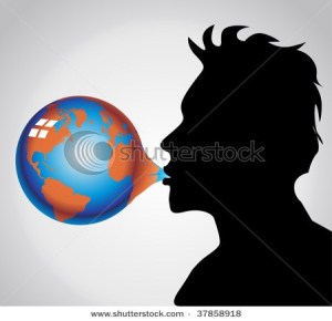 stock-vector-chewing-gum-bubble-earth-37858918